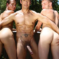 Men.com: Rafael Alencar, Garrett Cooper and Jack Radley