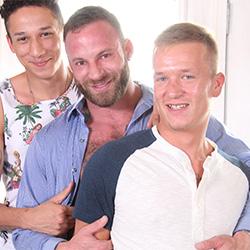 Gayroom: Derek Parker, Blake Joran  and Leo Romero
