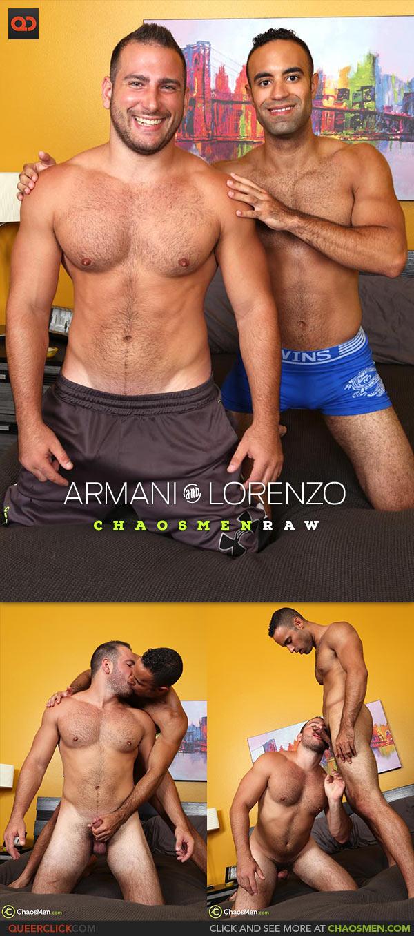 ChaosMen: Armani and Lorenzo Flip Fuck Bareback