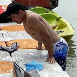Hot Taiwanese Kayaker
