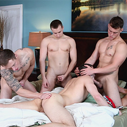 Next Door World: Damien West, Drake Tyler, Markie More and David Stone