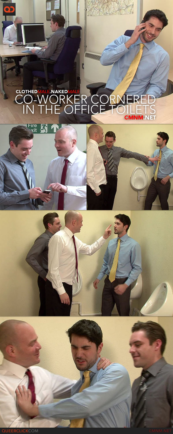 CMNM.net - Co-worker Cornered in the Office Toilets