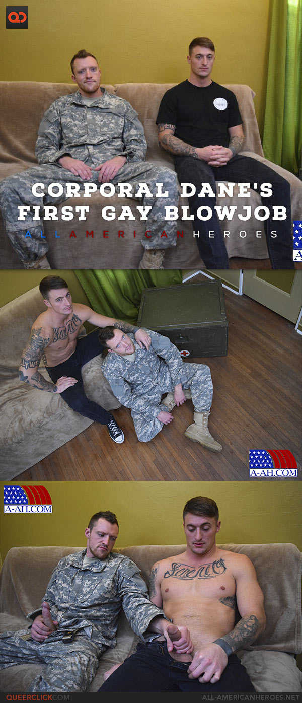 All American Heroes: Corporal Dane's First Gay Blowjob