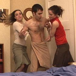 Boy caught naked shower