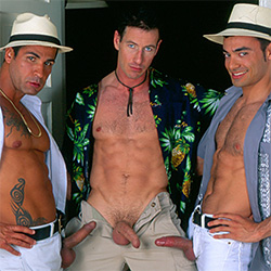 Falcon Studios: Mark Anthony, Ivan Andros and Lucas Magalhaes