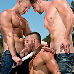 Falcon Studios: Nick Sterling, Andrew Stark and Brian Bonds
