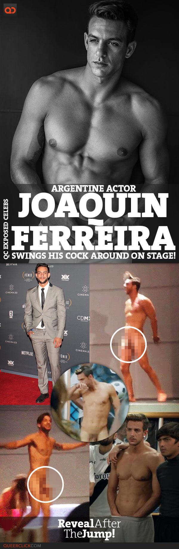 Argentina Boys Gays Porno joaquín ferreira, argentine actor, swings his cock around on