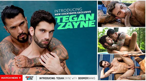 CockyBoys: Introducing Tegan Zayne with Boomer Banks