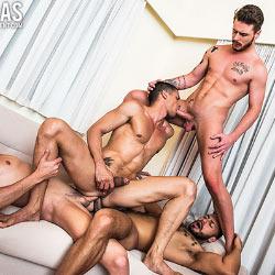 Lucas Entertainment: Josh Rider, Javi Velaro, Victor Rom and Ibrahim Moreno Fuck Bareback