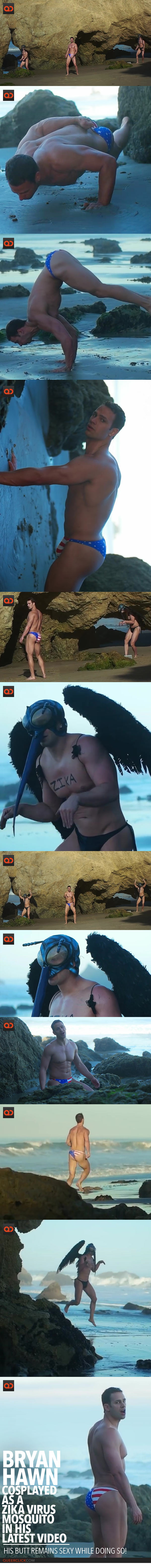 Bryan Hawn Cosplayed As A Zika Virus Mosquito In His Latest Video, His Butt Remains Sexy While Doing So!