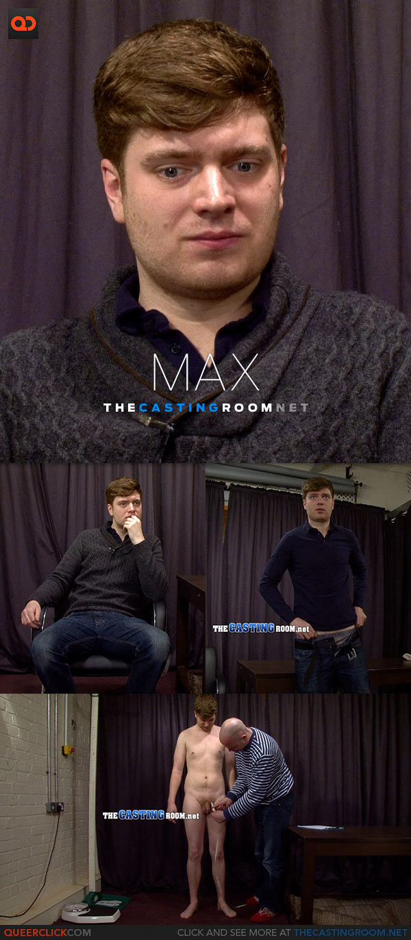 The Casting Room: Hetero Max Shows His Asshole!