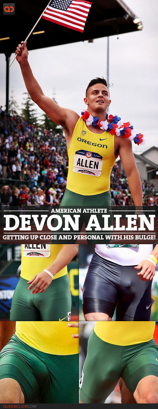 Devon Allen, American Athlete, Getting Up Close And Personal With His Bulge!
