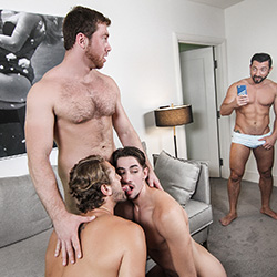 Men.com: Connor Maguire, Jimmy Durano, Jack Hunter and Wesley Woods