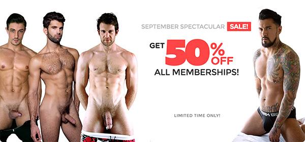 CockyBoys September Spectacular Sale 50% OFF!