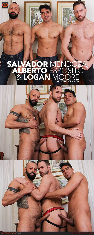 Kristen Bjorn: Salvador Mendoza, Alberto Esposito and Logan Moore
