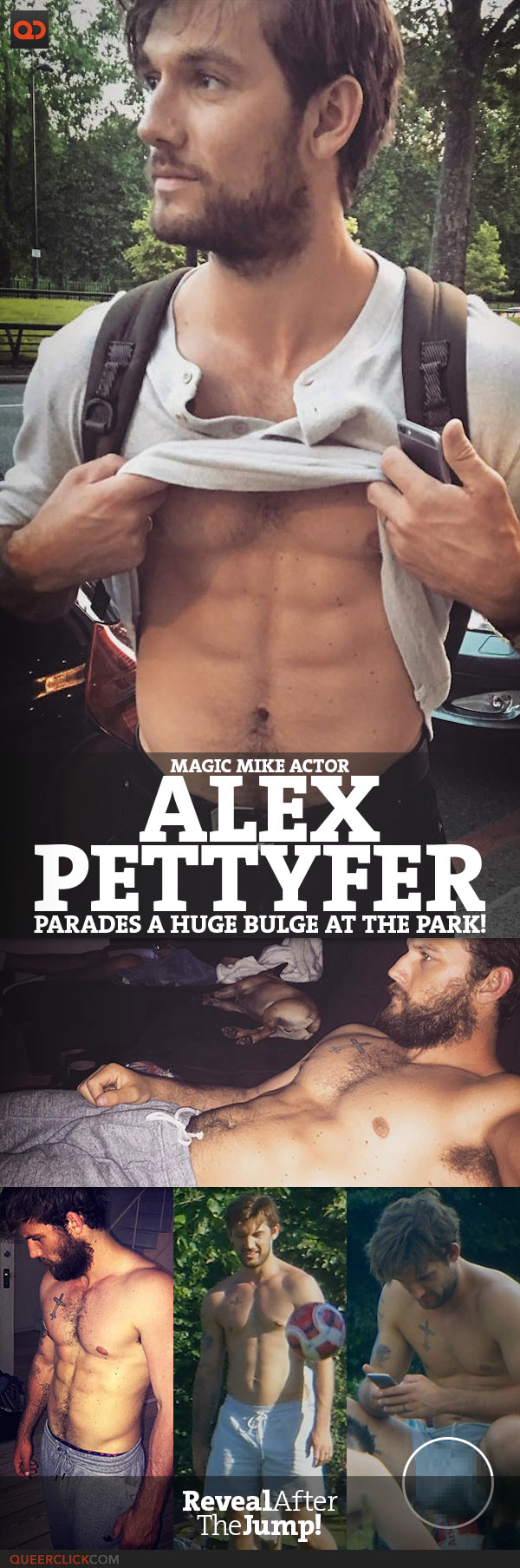 Alex Pettyfer, Magic Mike Actor, Parades A Huge Bulge At The Park!
