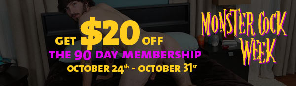 Monster Cock Week at ChaosMen - Get 20% Off!