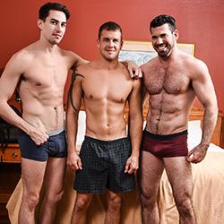 Men.com: Billy Santoro, Jack Hunter and Darin Silvers