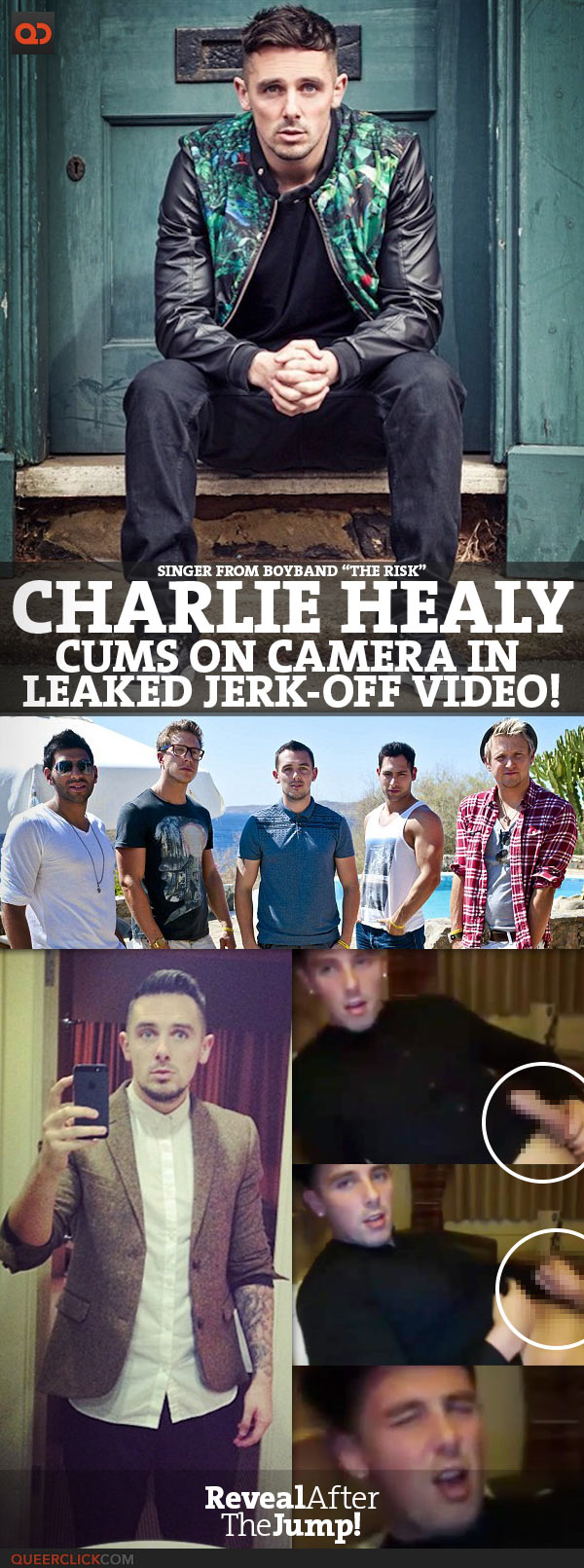 """Charlie Healy, Singer From Boyband """"The Risk"""", Cums On Camera In Leaked Jerk-Off Video!"""