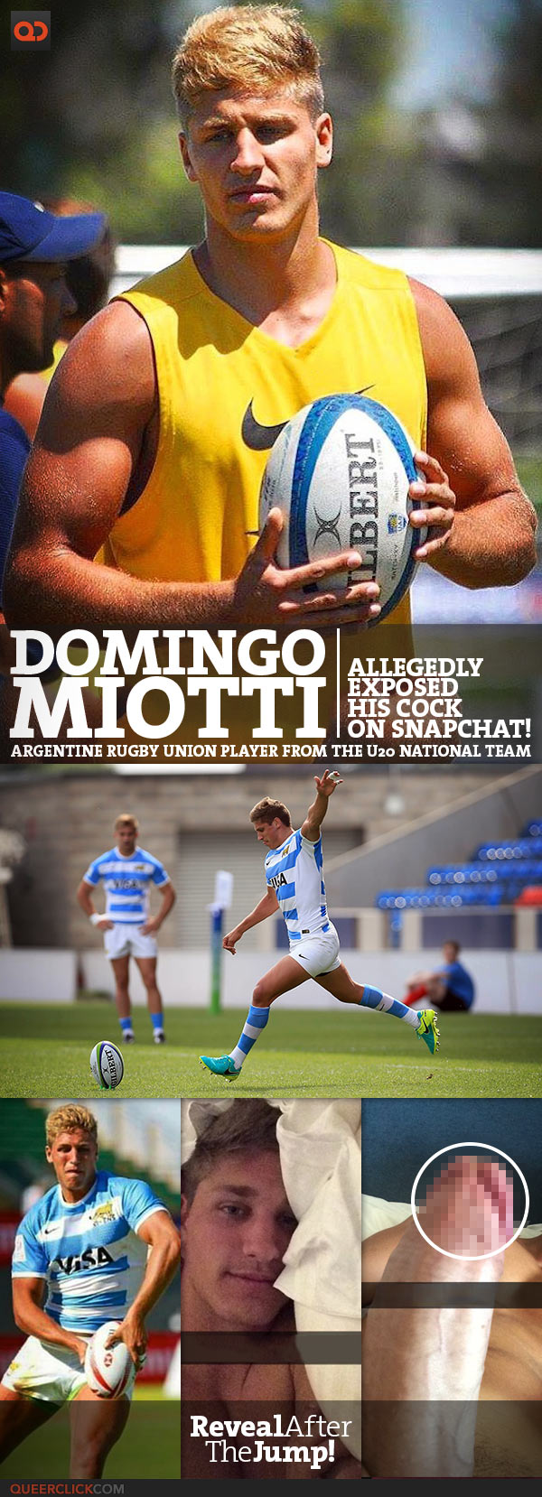 Domingo Miotti, Argentine Rugby Union Player From The U20 National Team, Allegedly Exposed His Cock On Snapchat!