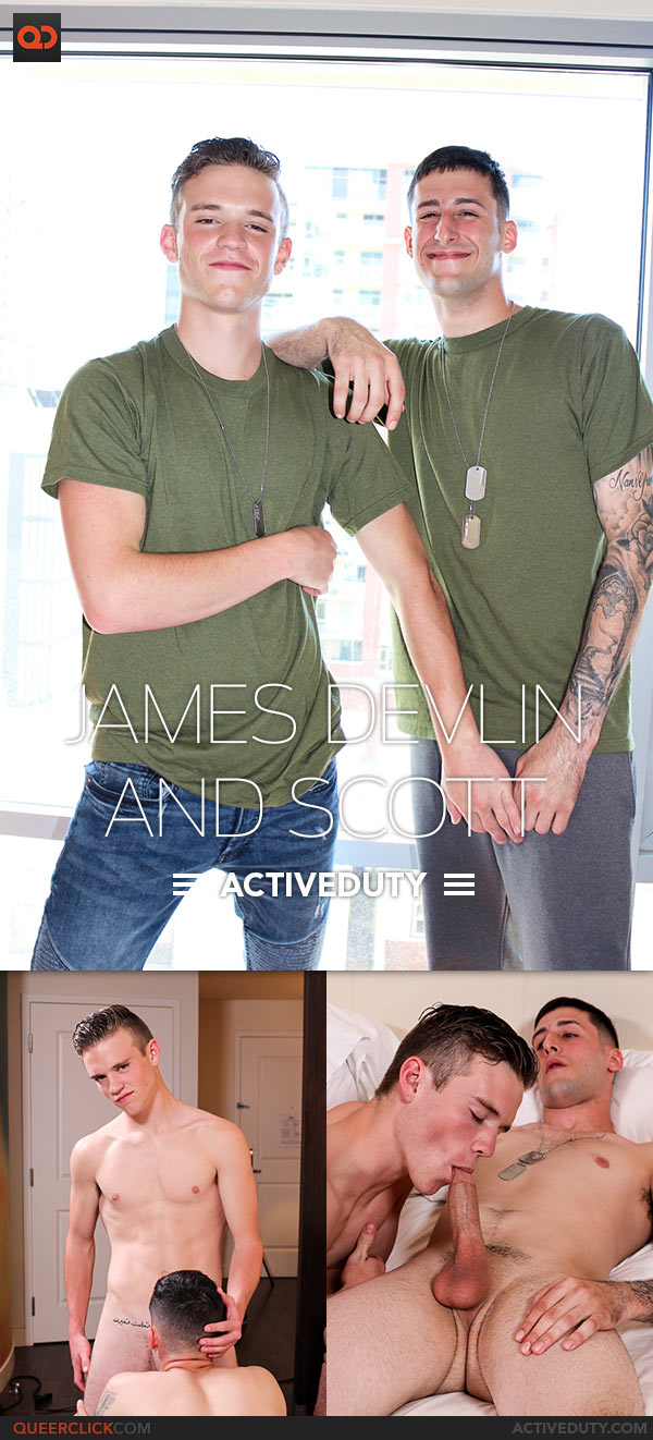 Active Duty: Scott Fucks James Devlin - Bareback