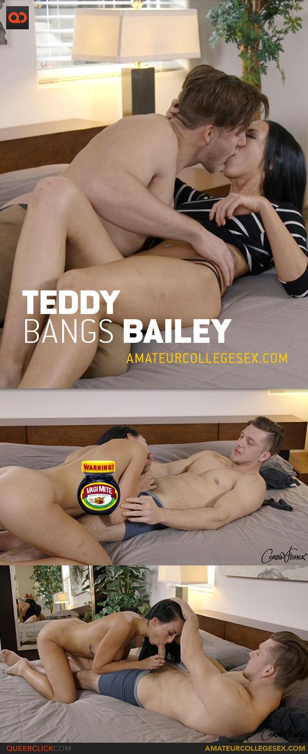 Amateur College Sex: Teddy Fucks Bailey