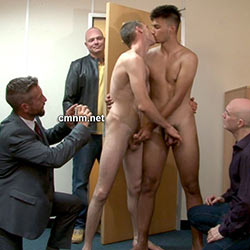 CMNM.net – Hetero Friends Ordered to Jerk Each Other Off