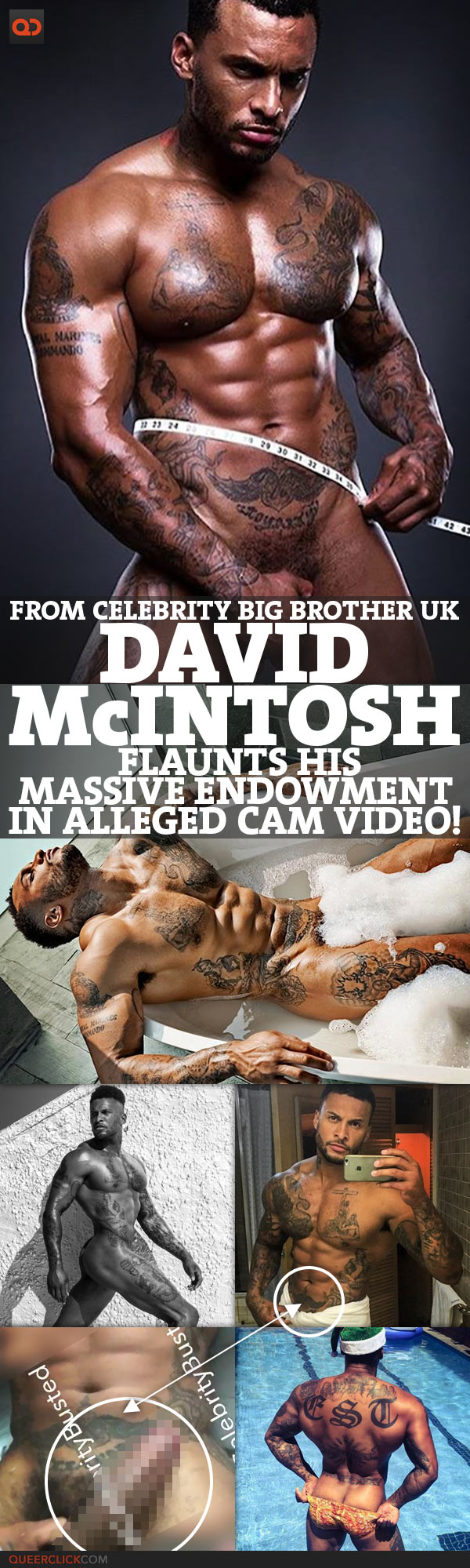 David Mcintosh, From Celebrity Big Brother UK, Flaunts His Massive Endowment In Alleged Cam Video!