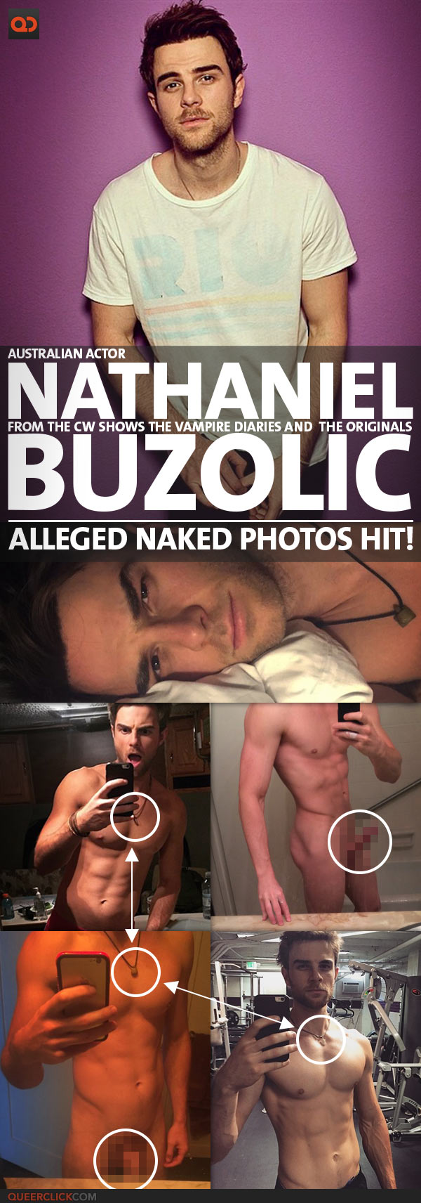 Nathaniel Buzolic, Australian Actor From The CW Shows The Vampire Diaries And The Originals, Alleged Naked Photos Hit!