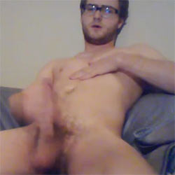 Nerdy Looking Guy Unveils A Succulent Cock!
