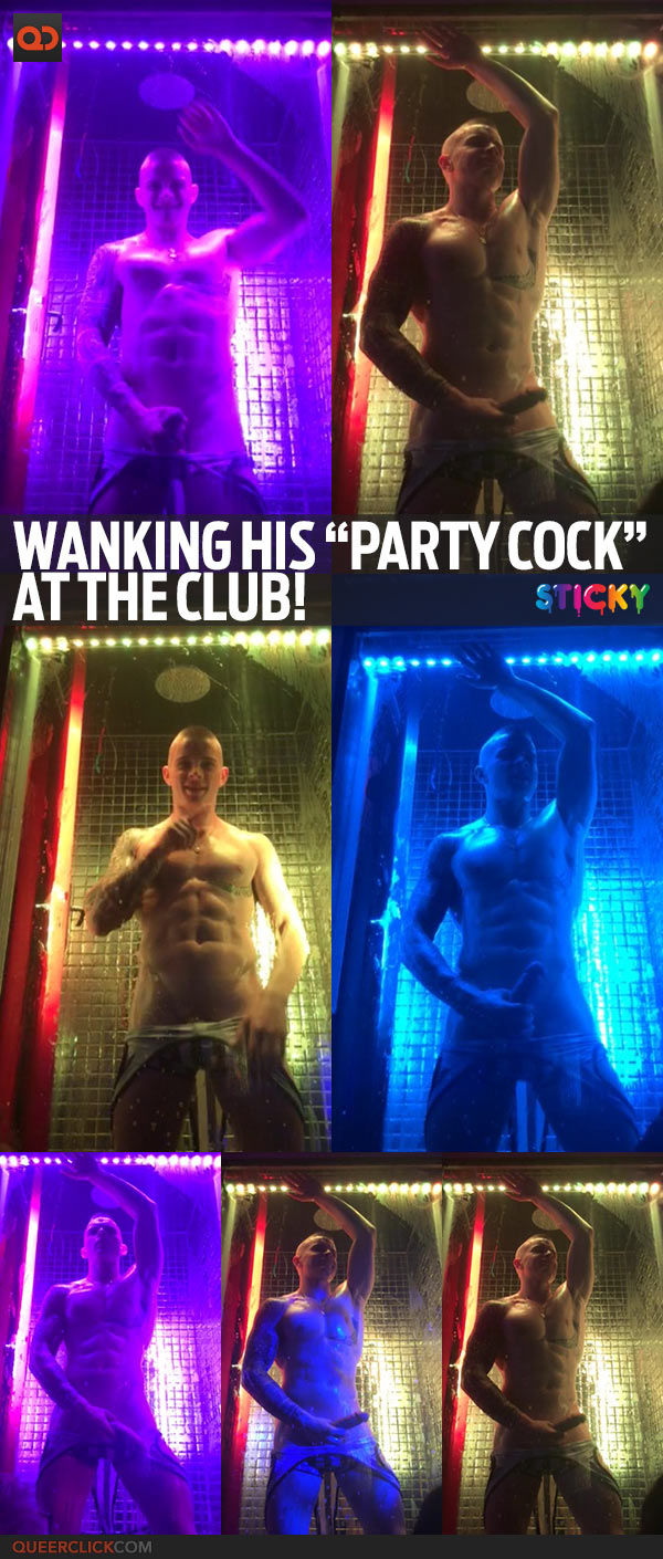 "Wanking His ""Party Cock"" At The Club!"