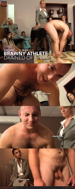 CFNMTV.com - Brawny Athlete Drained of Sperm
