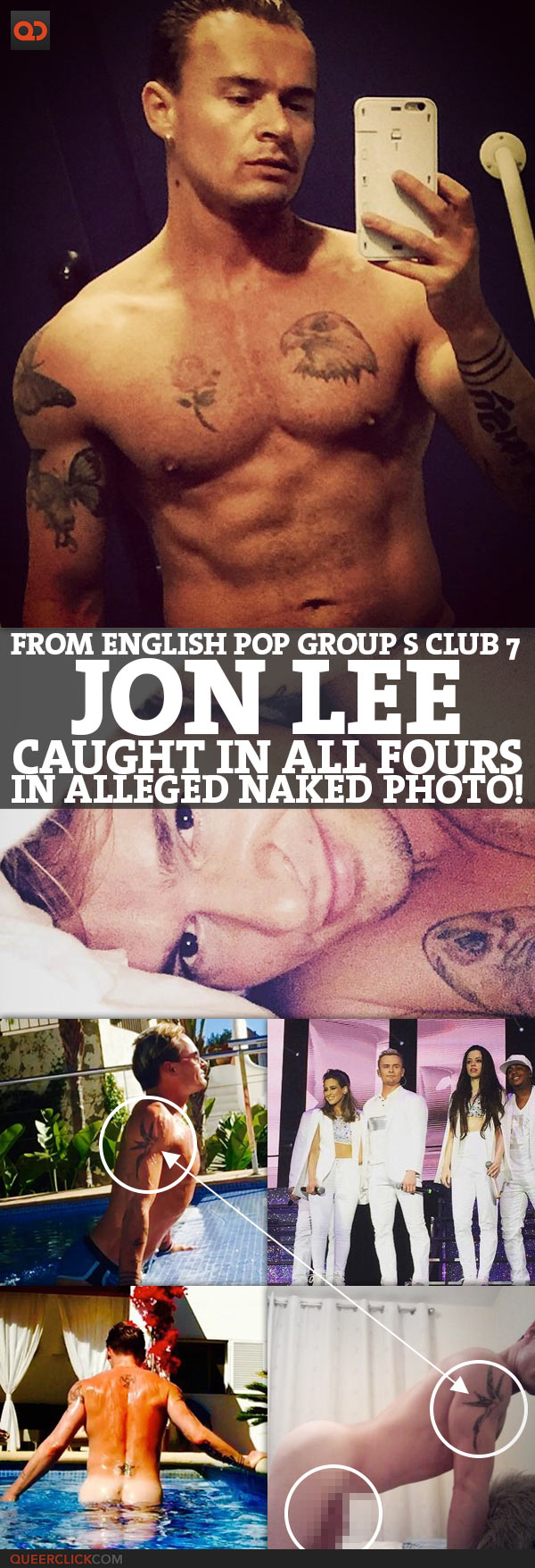 Jon Lee, From English Pop Group S Club 7, Caught On All Fours In Alleged Naked Photo!
