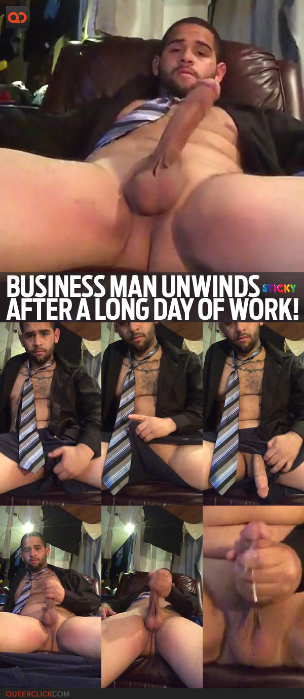 Business Man Unwinds After A Long Day Of Work!