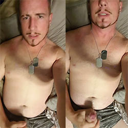 Daddy-Looking Soldier Rubs One Out In The Barracks!