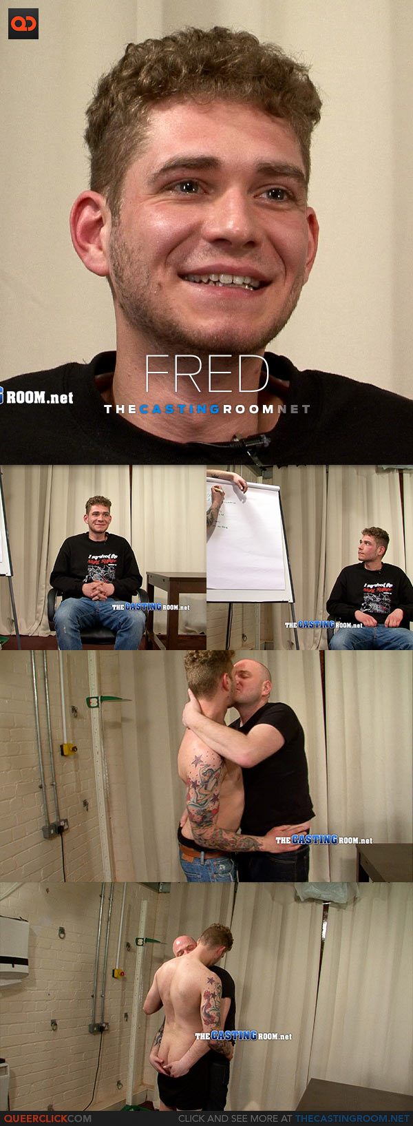 The Casting Room: Hetero Fred's First Fucking!