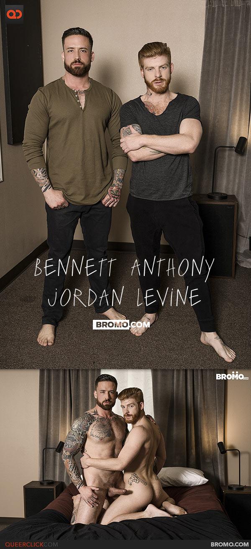 Bromo: Jordan Levine Fucks Bennett Anthony - Bareback