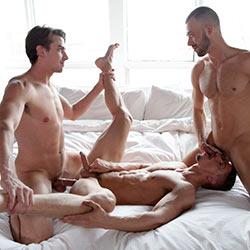 CockyBoys: Skyy Knox, Jack Hunter & Brandon Jones