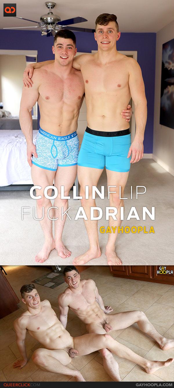 Gayhoopla: Collin Simpson and Adrian Monroe Flip Fuck