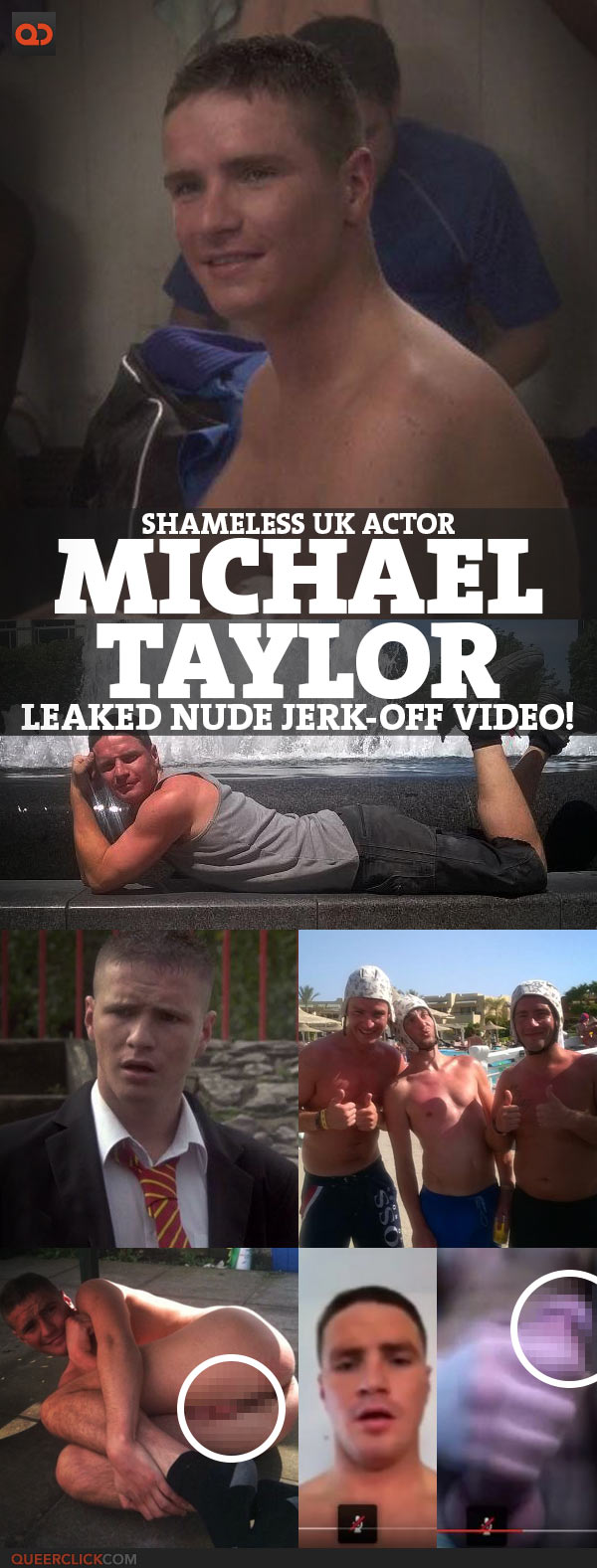 Michael Taylor, Shameless UK Actor, Leaked Nude Jerk-Off Video!