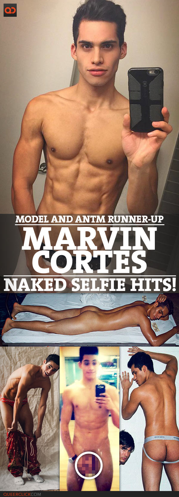 Marvin Cortes, Model And ANTM Runner-Up, Naked Selfie Hits!