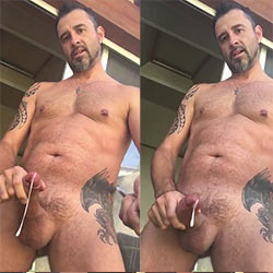 "Bearded Daddy Tries His New Selfie Stick To Film His ""Other"" Stick!"