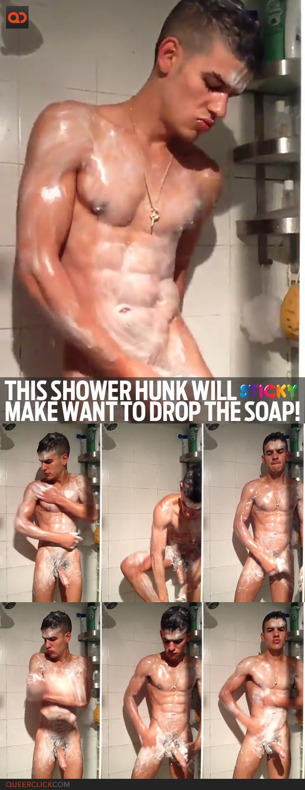 This Shower Hunk Will Make Want To Drop The Soap!