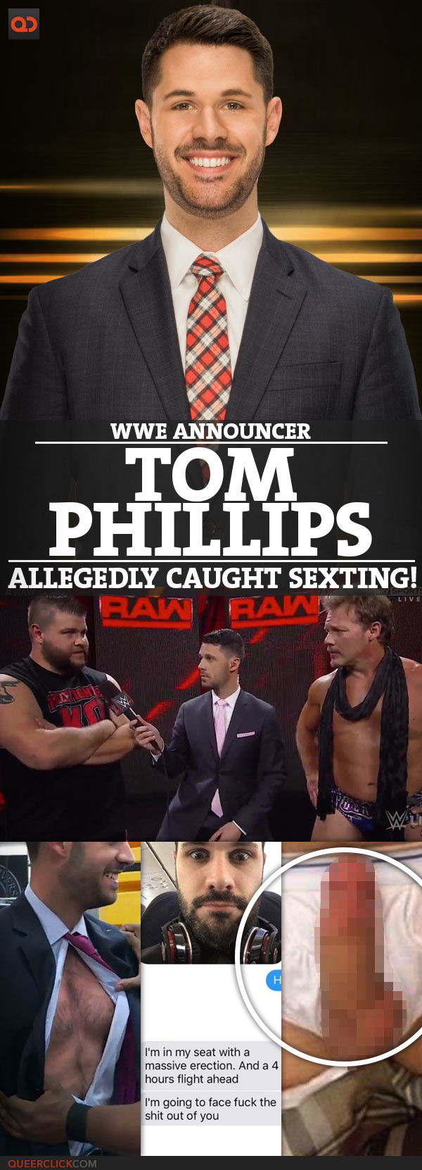 Tom Phillips, WWE Announcer, Allegedly Caught Sexting!