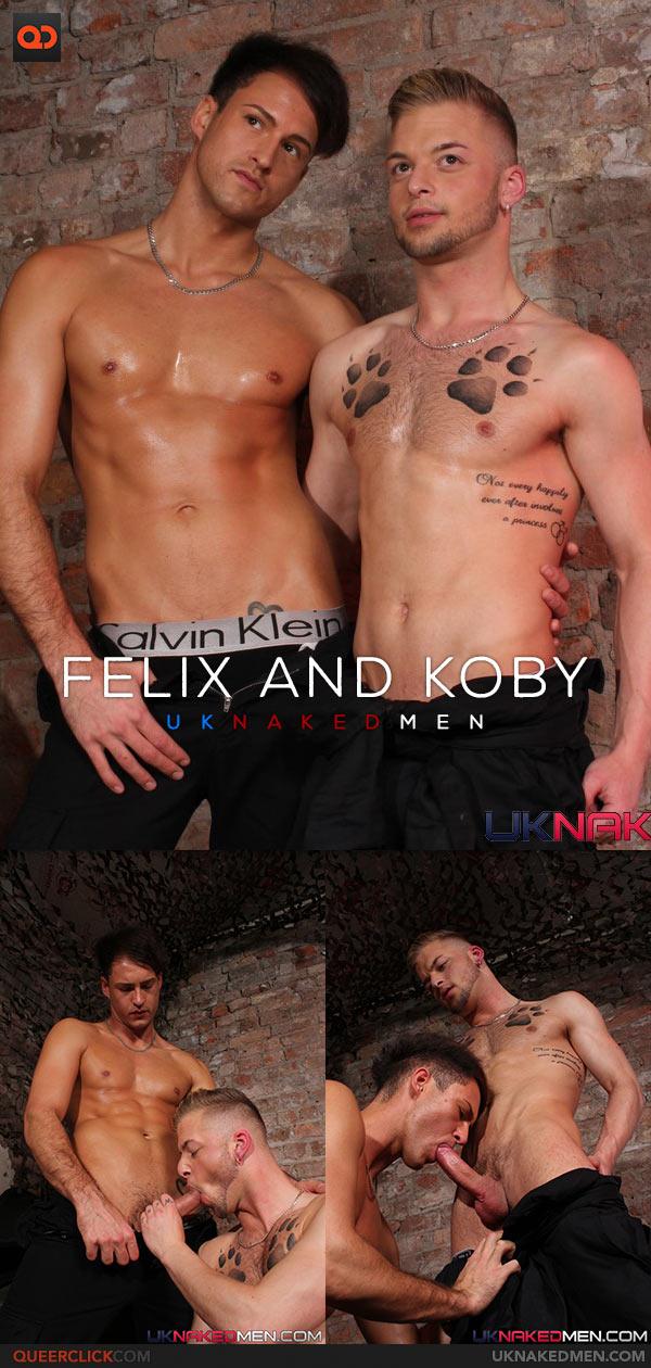 UK Naked Men: Felix Chase and Koby Lewis Flip Fuck