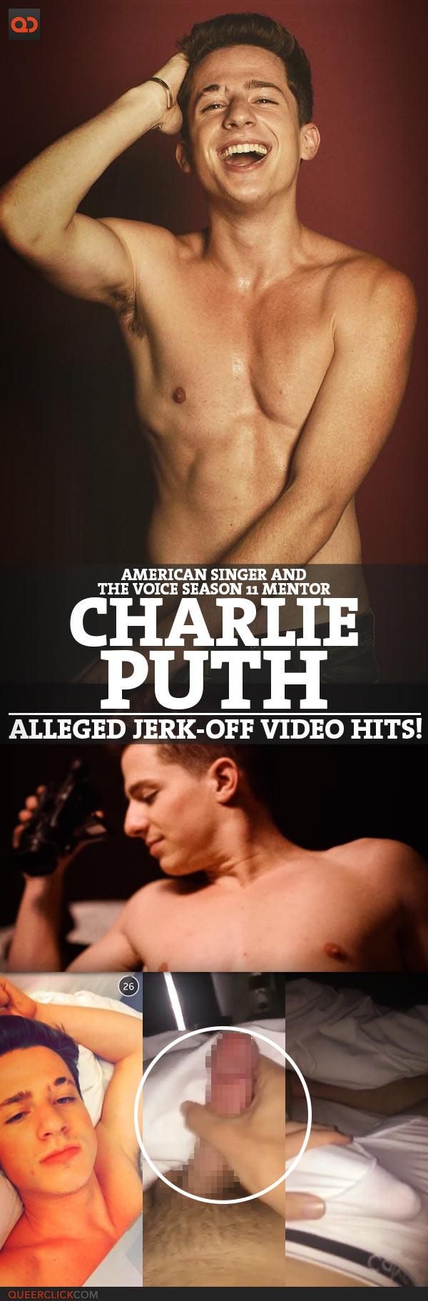 Charlie Puth, American Singer And The Voice Season 11 Mentor, Alleged Jerk-Off Video Hits!