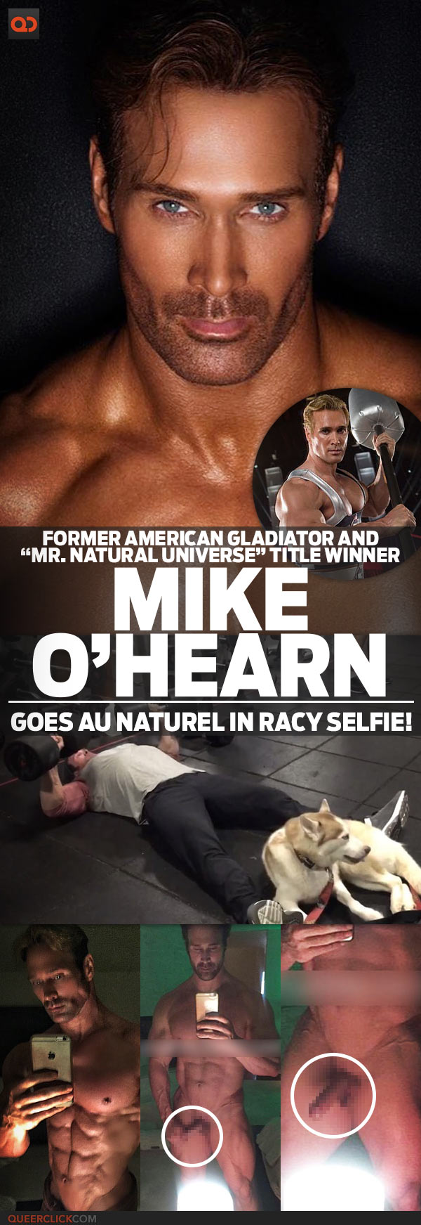 """American Gladiators Naked mike o'hearn, former american gladiator and """"mr. natural"""