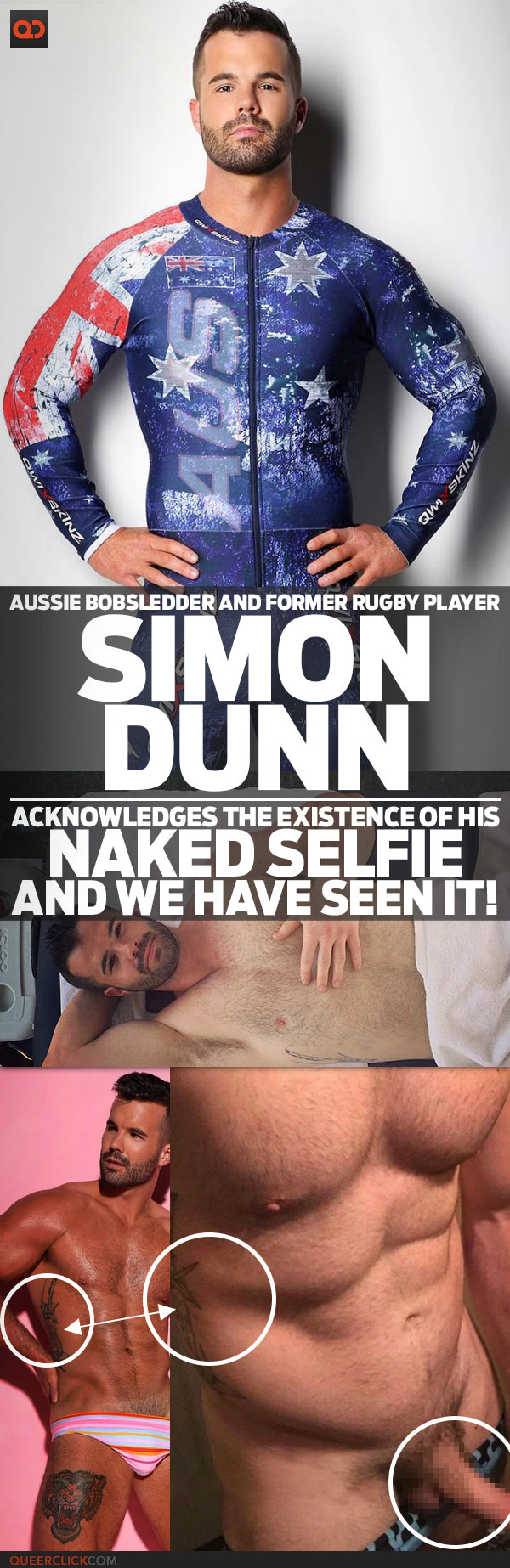 Simon Dunn, Aussie Bobsledder And Former Rugby Player, Acknowledges The Existence Of His Naked Selfie And We Have Seen It!