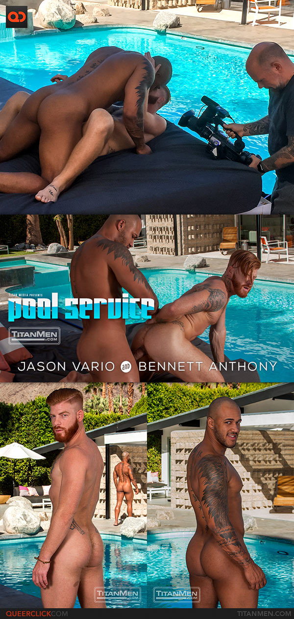 TitanMen: Jason Vario Fucks Bennett Anthony - Pool Service