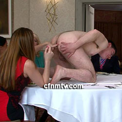 CFNMTV.com – Waiter Presents His Arse For Fingering